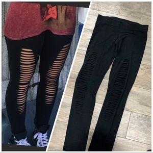 Slit cut leggings